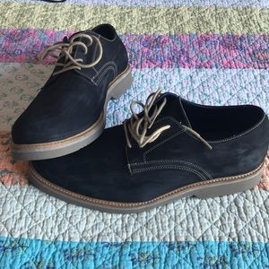 14th and Union Navy Suede Derbies